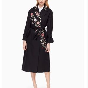 Kate Spade Floral Trench Coat Small
